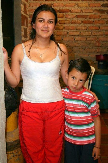 Picture of Rosita and son.