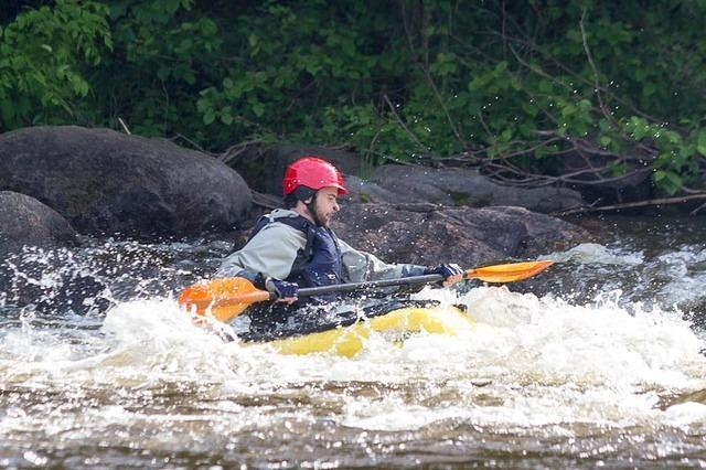 Picture of Dan in kayak.