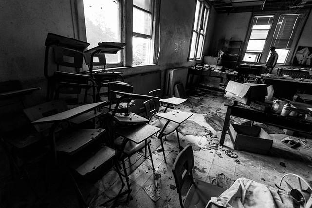 Picture of desks.