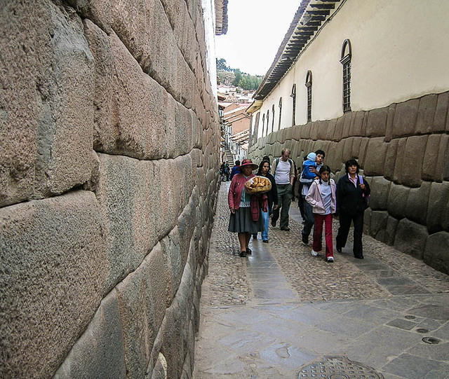 Picture of Inca wall.