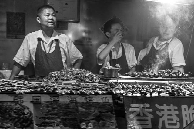Picture of vendors.