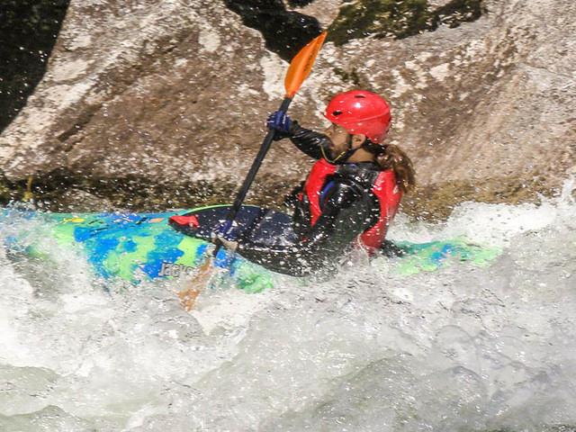 Picture of Dan in kayak.