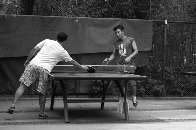 Picture of table tennis.