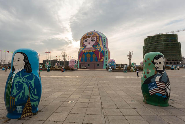 Picture of matryoshka doll in Manzhouli, China.