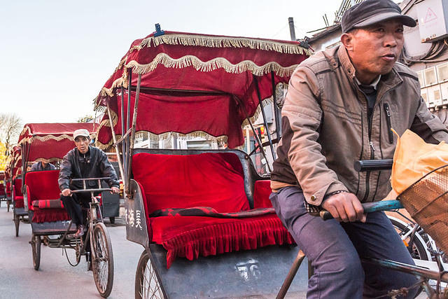 Picture of rickshaw drivers.