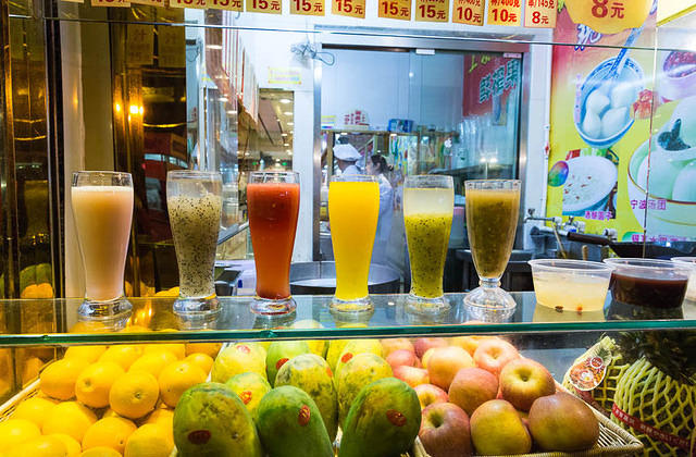 Shanghai - Picture of smoothies.