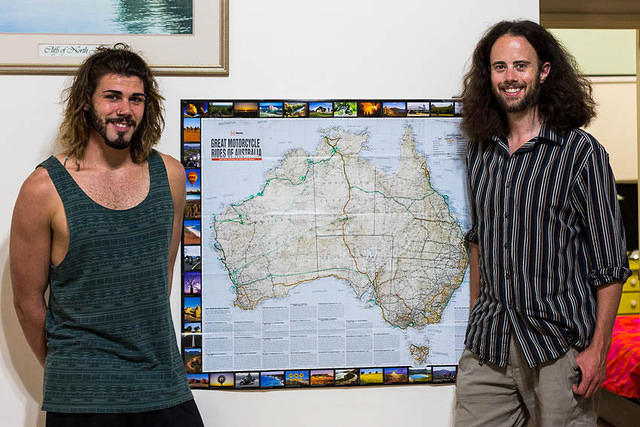 Picture of Chris and Dan with map.