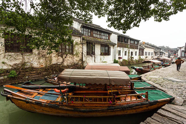 Zhouzhuang - Picture of boats.