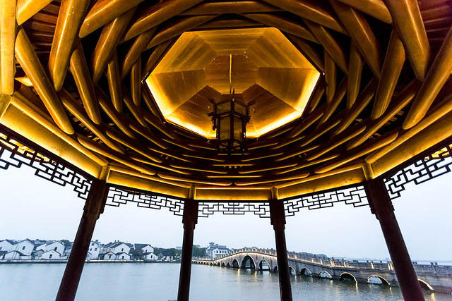 Zhouzhuang - Picture of ceiling.