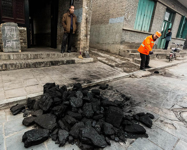 Pingyao: Picture of coal.