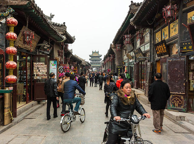Pingyao: Picture of people.