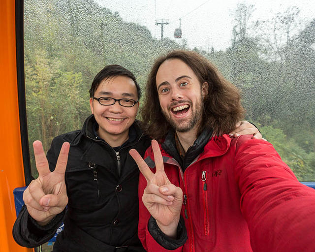 Tianmen Mountain: Picture of Tony and Dan.
