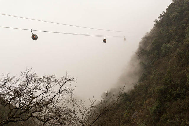 Tianmen Mountain: Picture of cable cars.