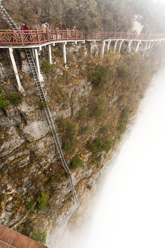 Tianmen Mountain: Picture of ladder.