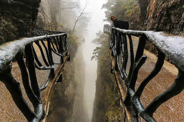 Tianmen Mountain: Picture of walk.