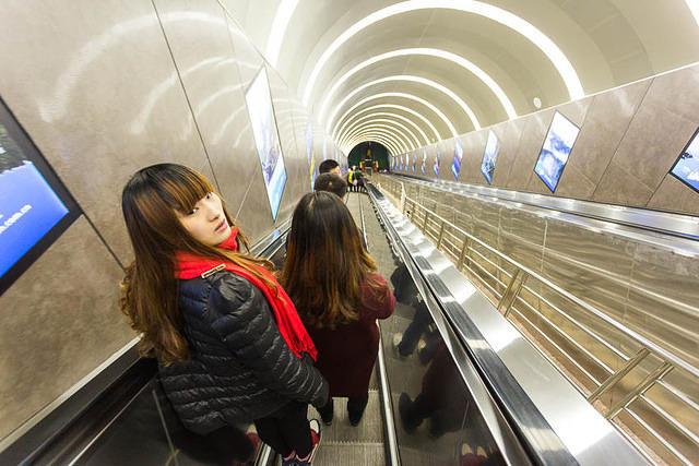 Tianmen Mountain: Picture of escalator.