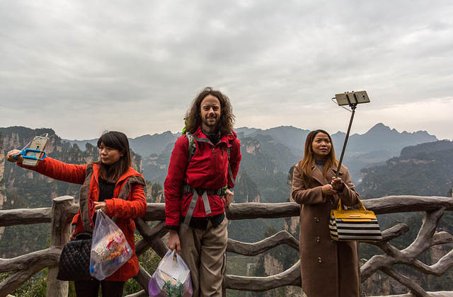 Zhangjiajie: Picture of selfie sticks.