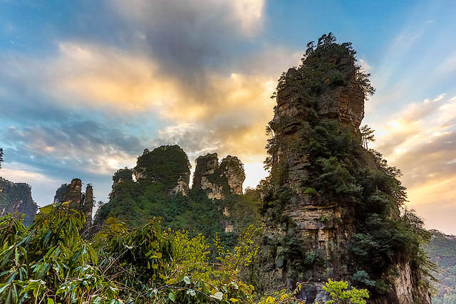 Zhangjiajie: Picture of sunset.