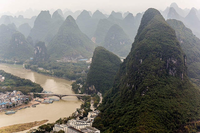 Yangshuo: Picture of hills.