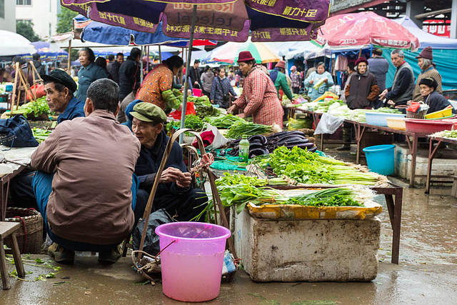 Fu Ling - Picture of market.