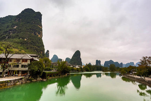 Yangshuo: Picture of countryside.