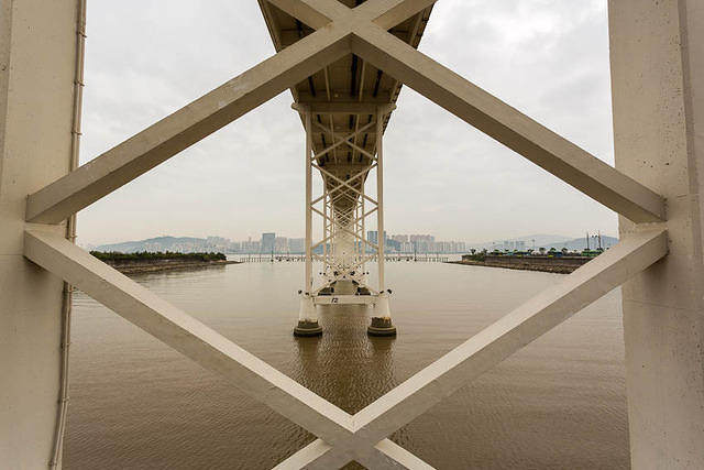 Macau: Picture of bridge.
