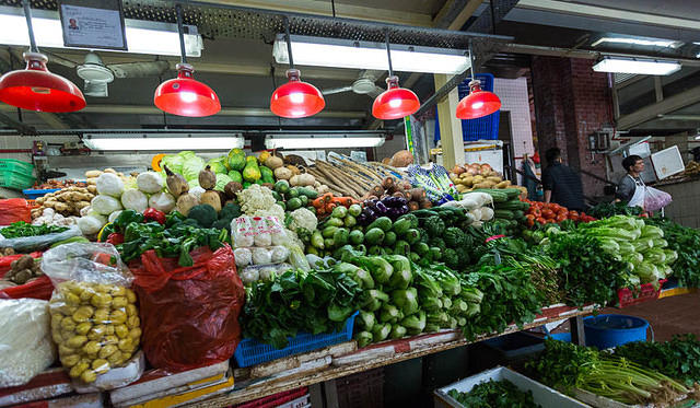 Macau: Picture of vegetables.