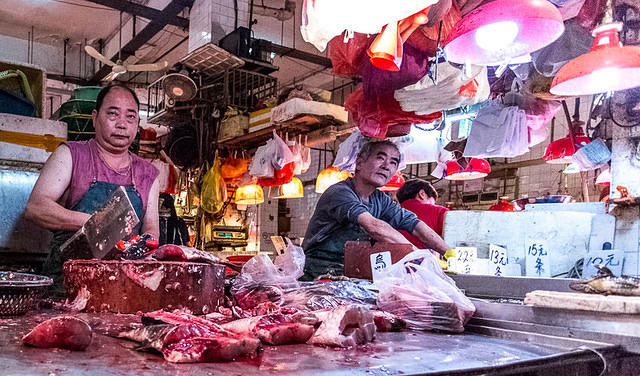 Macau: Picture of butchers.