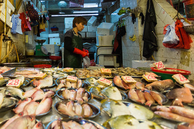 Hong Kong: Picture of fish.