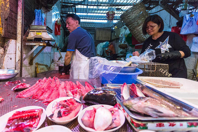 Hong Kong: Picture of fish from market.