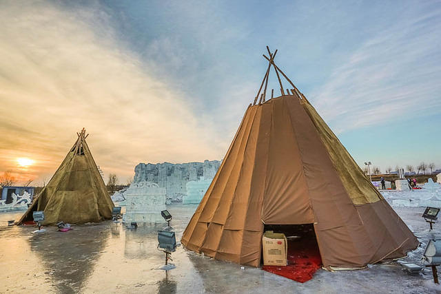2016: Picture of teepees in Harbin, China.