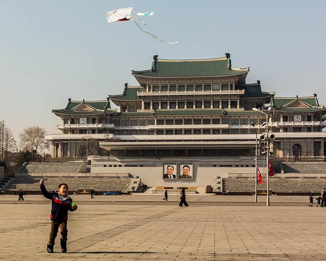 North Korea: Picture of Kim Il Sung Square.