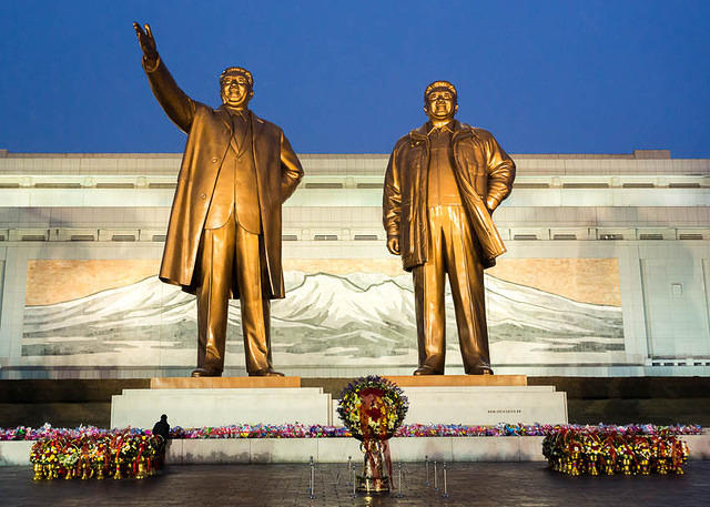 2016: Picture of Kim Memorial in Pyongyang.