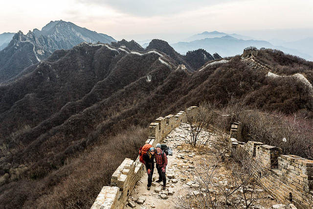 2016: Picture of Katie and Greg walking on the Great Wall of China.