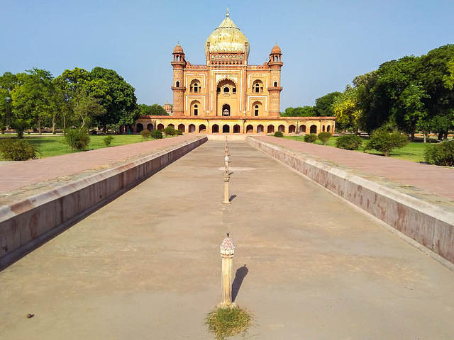 India: Picture of Safdarjung's tomb in Delhi, India.