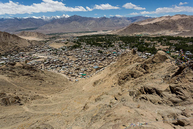 India: Picture of Leh from above.