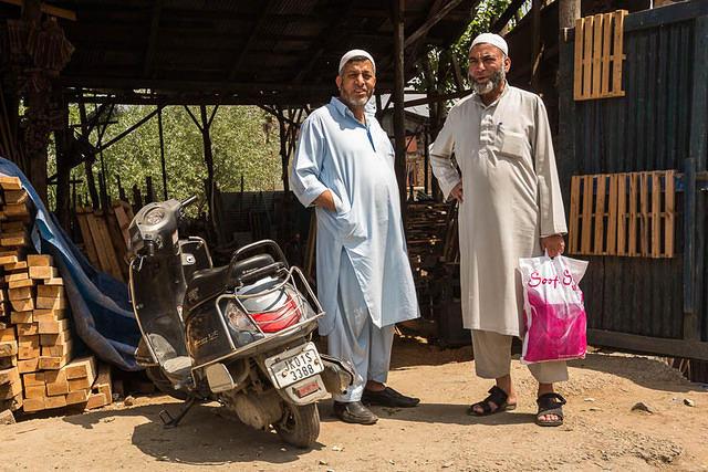 India: Picture of Muslim men in Srinagar, India.