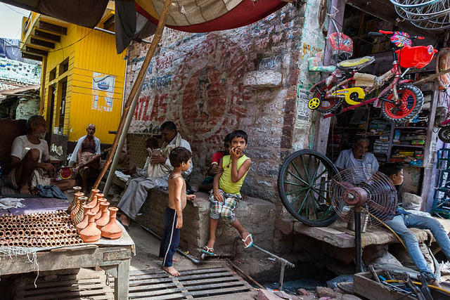 India: Picture of street photo from India.