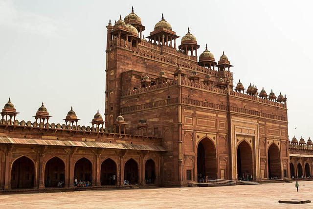 India: Picture of the Jama Mosque in Fatehpur Sikri, India.