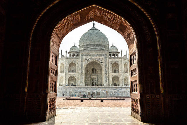 India: Picture of the Taj Mahal in Agra, India.