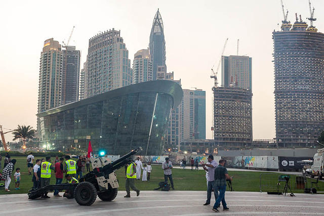 Picture of cannon in Dubai.