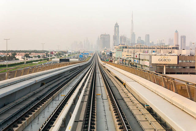 Picture of Metro in Dubai.