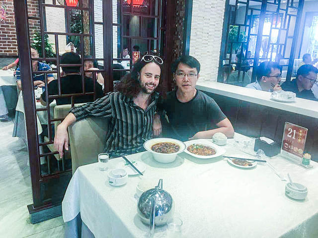 Picture of Dan and Wang Ye.