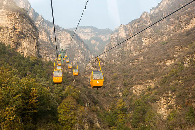 2016: Picture of cable car in China.