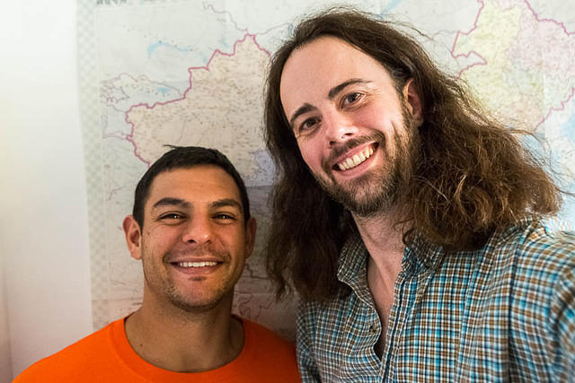 Podcast: Picture of Sam and Dan.