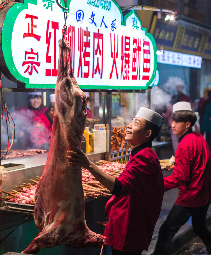2016: Picture of lamb in Xi'An, China.