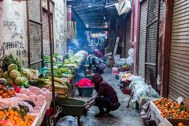 2016: Picture of market in Shangri-La, China.