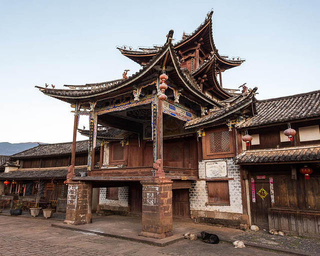 Picture of theater in Shaxi, Yunnan, China.