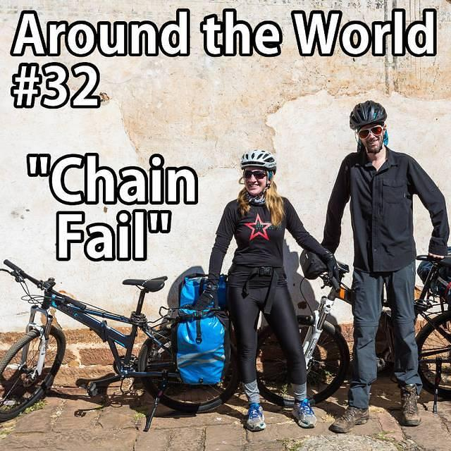 Chain Fail: Picture of Katie and Dan with their bicycles.