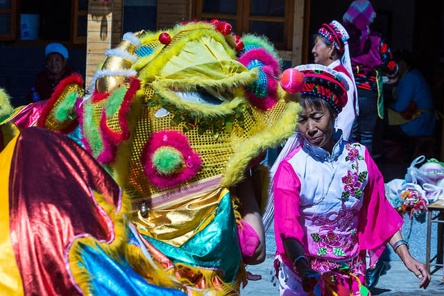 Erhai Lake: Picture of dragon dancer.